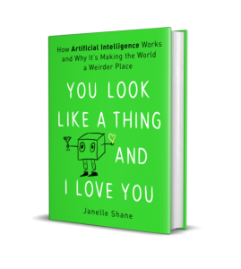 An image of the cover of the book, which has the title of the book and a intentionally-crudely drawn (in a cute way) hand-drawn robot on a lime green background